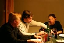 Dinner Drinks Argument Chamonix