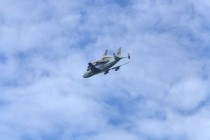 Discovery Piggyback over Goddard Space Flight Center