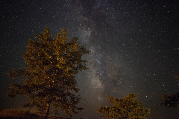Milky Way above Badlands