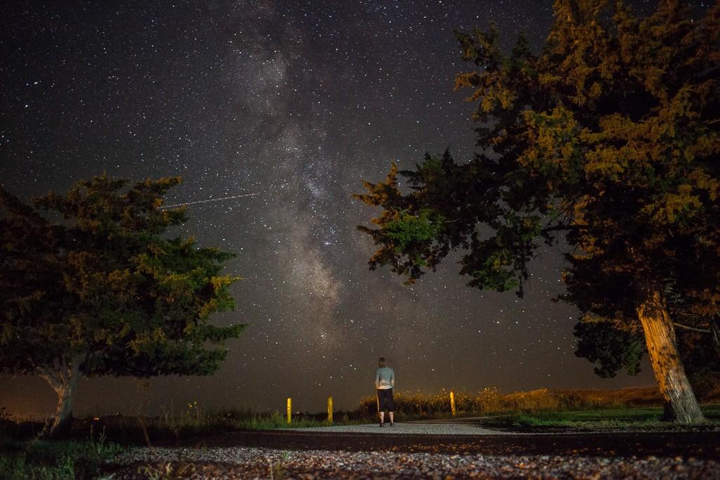 Milky Way over Badlands National Park